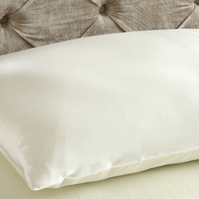 Silk Pillow Case on Pillow